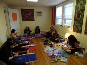 Creating the mala bead strands