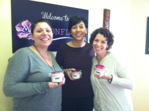 Some of the participants with their homemade body butter