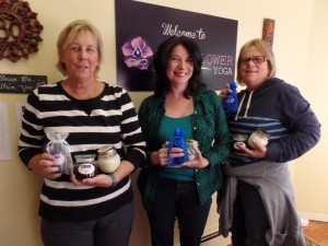Some of the Holiday Gifts Essential Oils workshop participants with their creations