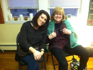 Bev and Pat with a needle arts creation