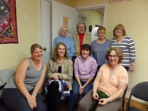 Initial members of the Moonflower Yoga Needle Arts Group