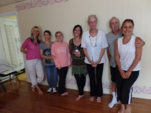 Connie (3rd from right) with the Reiki Level One participants