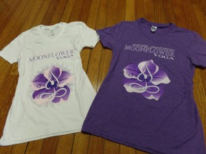 Comfortable v-neck, cotton shirts in white & purple
