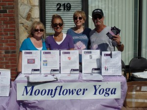 Mary, Dian, Moonflower Yoga owner Nancy, and Ray